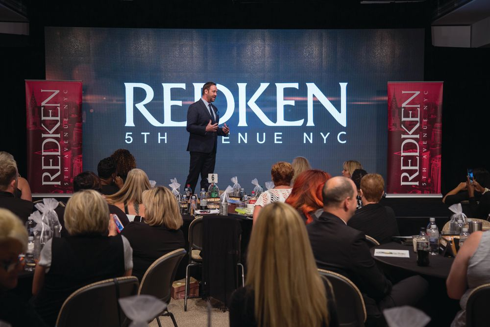 Guests enjoyed the information from Redken.
