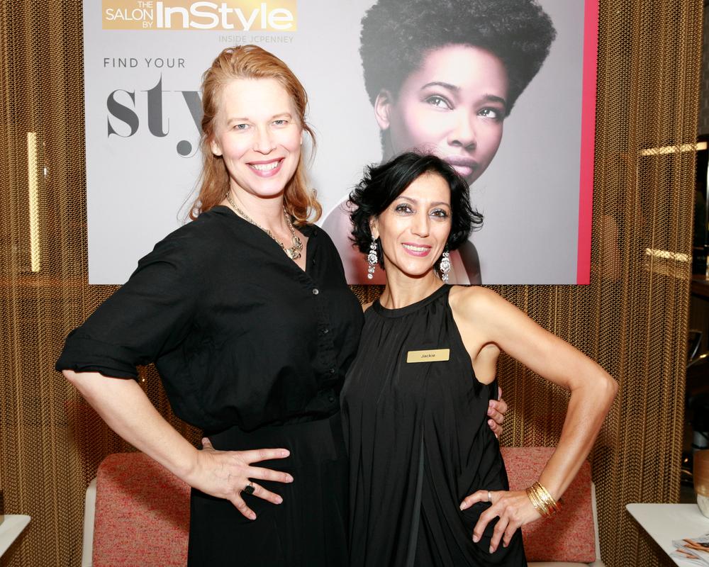 MODERN SALON's Anne Moratto with salon manager Jackie Galstaun
