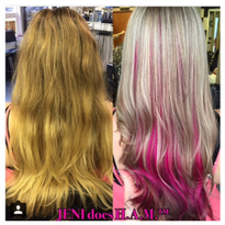 Brassy to Ashy with Pink Peek-A-Boo Pieces
