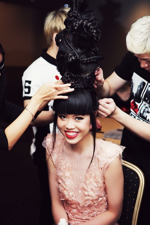 Backstage in SINGAPORE: fashion by Ziad Nakad