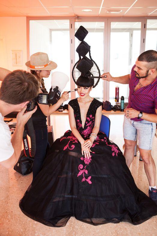 SPAIN: Behind the scenes, fashion by Hoang Hai and Pandora