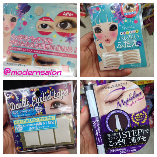 Tokyo's Drugstore Hair Color, Eyelid Crease Tape and Nail Art