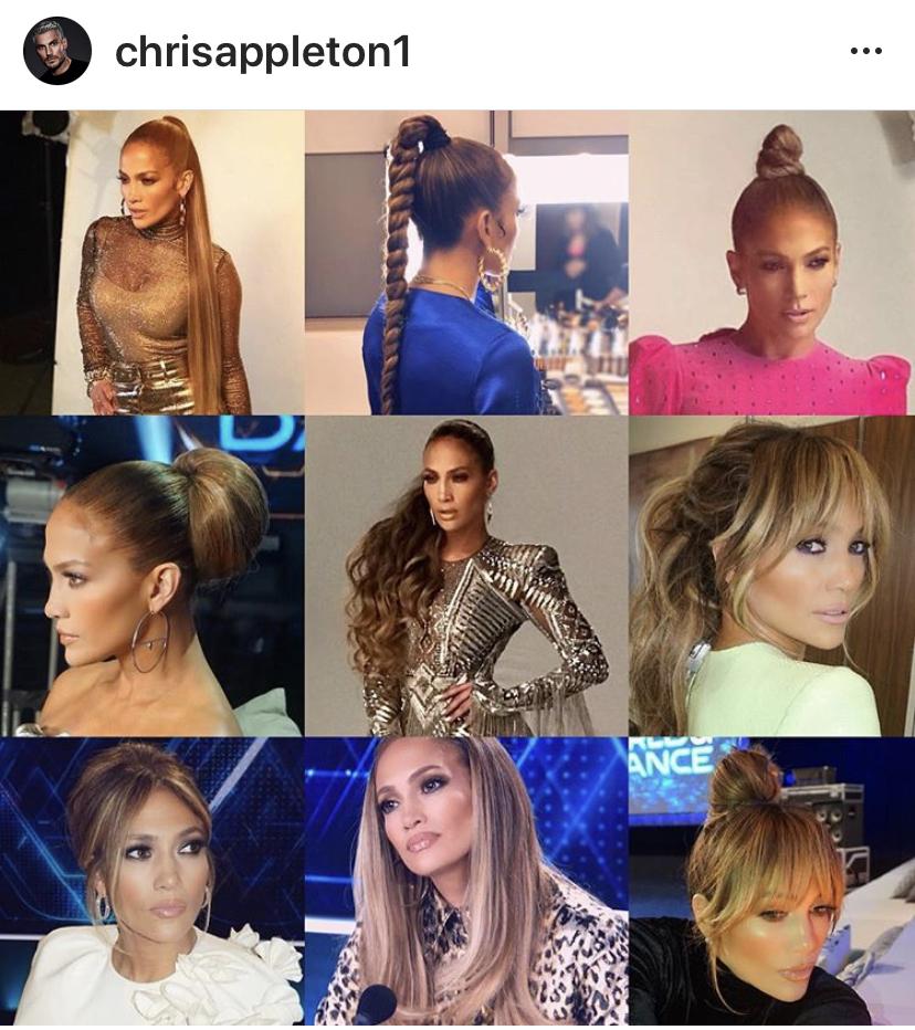 Jennifer Lopez - hair by Chris Appleton.