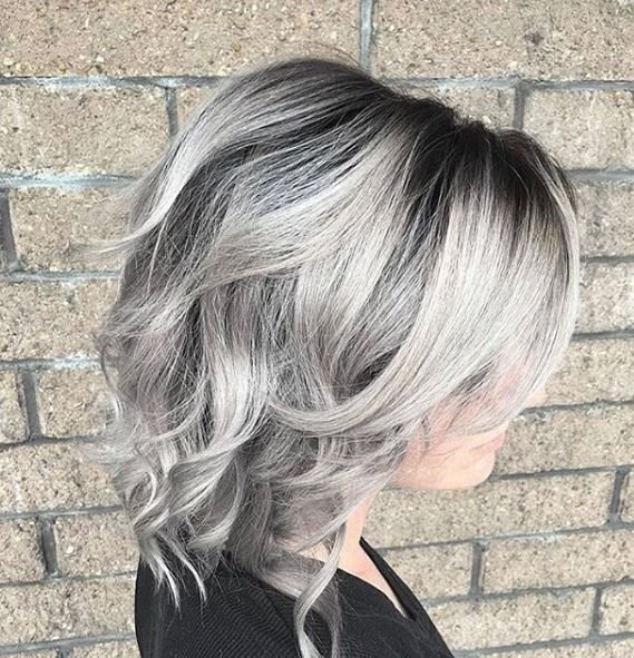 This gorgeous silver by @johndoeshair has us feeling cool as ice.