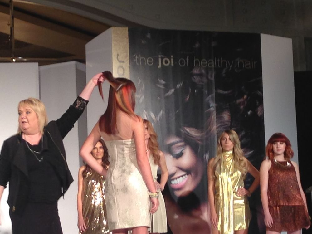 Sue Pemberton, International Creative Director for Color, shows off some work.