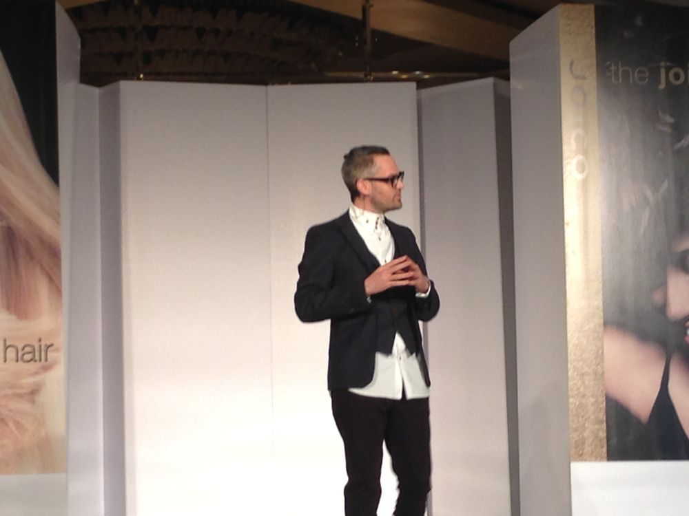 """Joico introduced their new International Artistic Director Jeremy Davies Barbala: """"I'm interested in educating on the fundamental principles of hairdressing because that gives us our technique.  Which, in turn, allows us to be consistent in our work."""""""