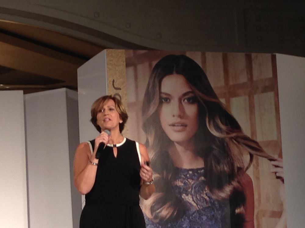 """Sara Jones, GM of Joico talks about the new logo and tag line for Joico:"""" The Joi of Healthy Hair, it's in our name, it's in our people, it's in our products and we wanted to express it."""""""