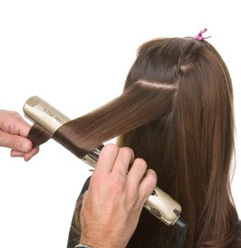 Use a styling iron to create waves.
