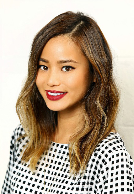 HOW-TO: Golden-Blonde Subtle Sombré on Jamie Chung