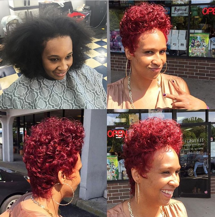 Adding A Pop Of Color On Natural Hair