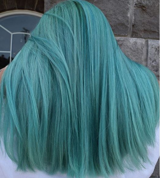 The perfect ocean storm is created in this look.