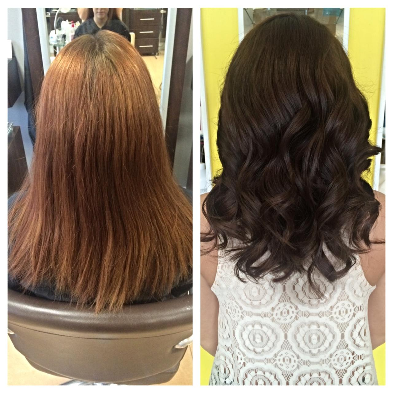 COLOR CORRECTION: Faded Red To Deep Chocolate