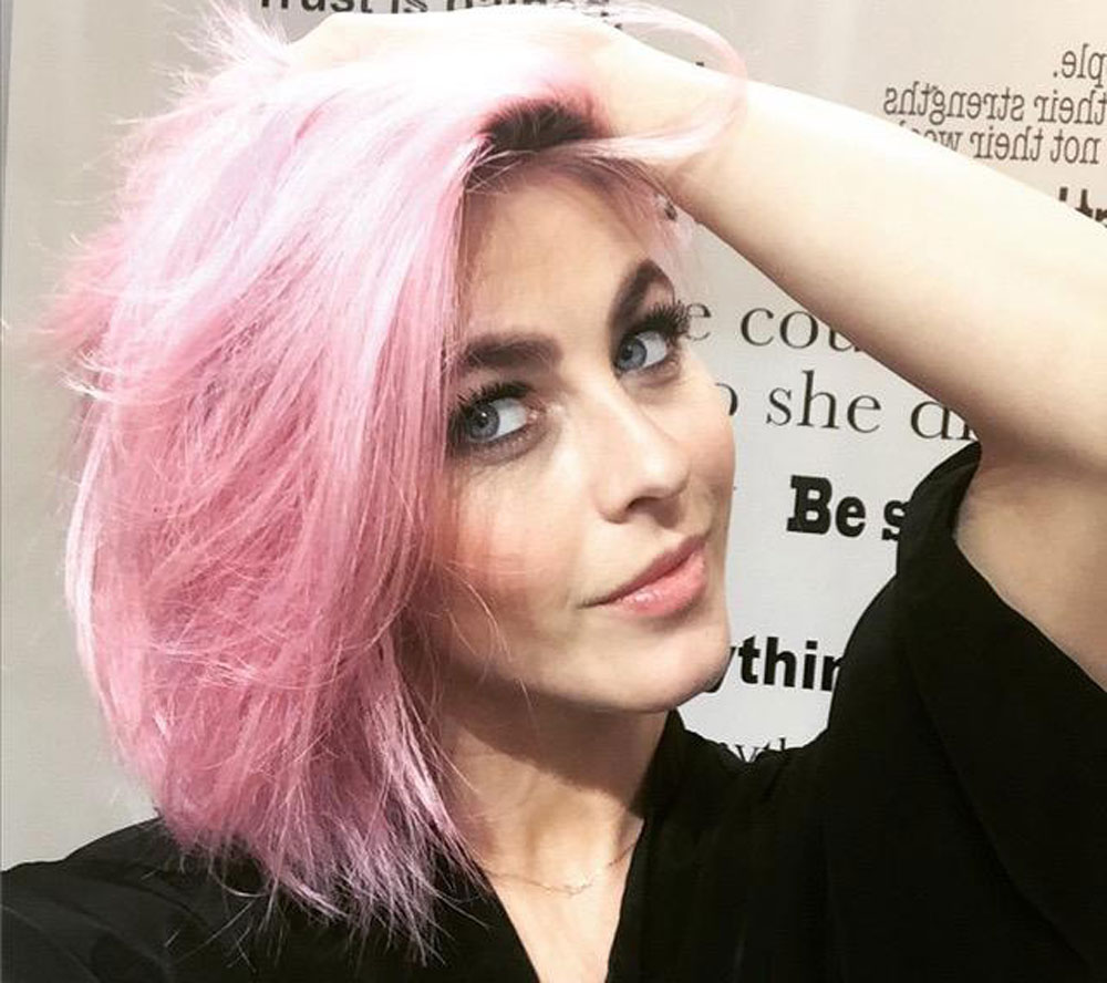 Julianne Hough's Pink Hair Formula