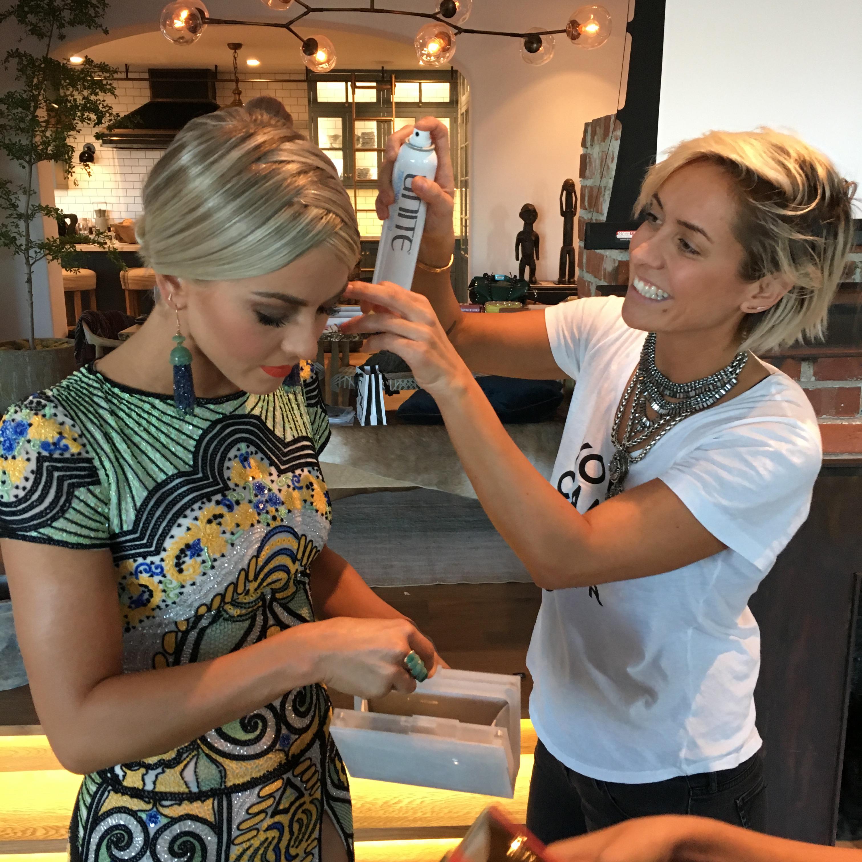 Julianne Hough for the American Music Awards 2015: Hair by Riawna Capri Using Unite