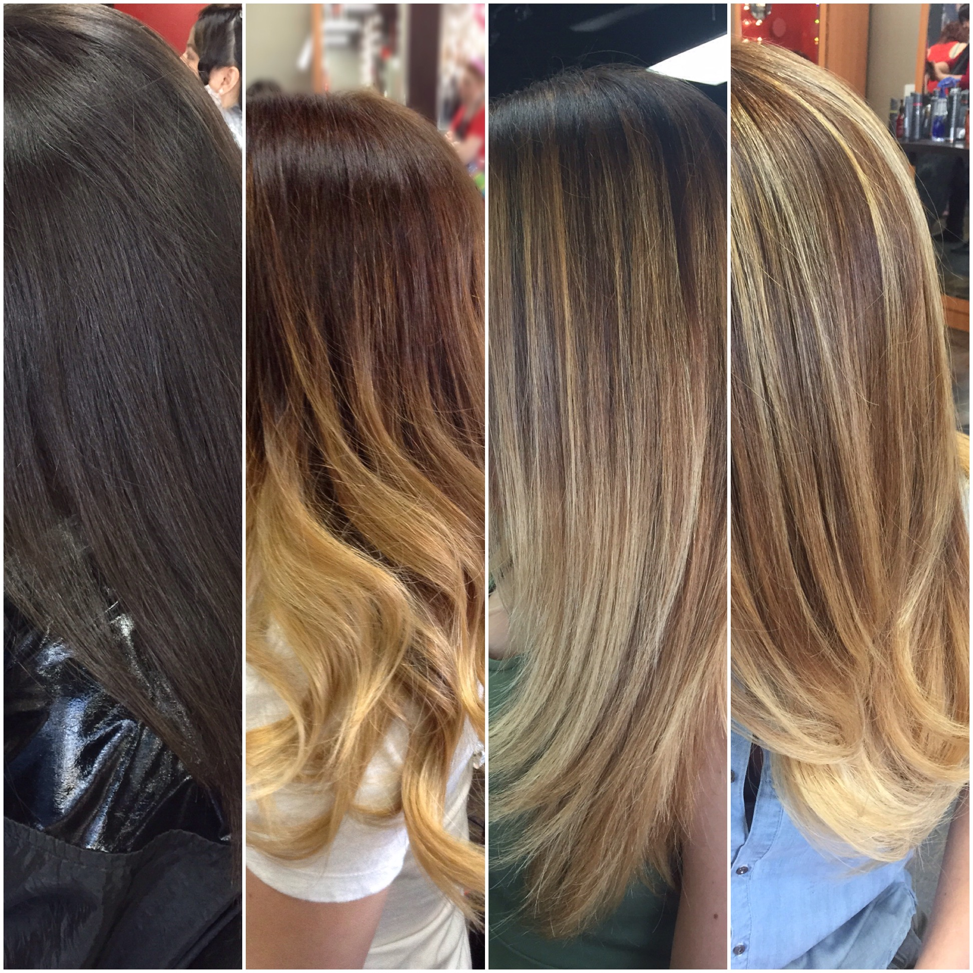 THE SESSIONS: Virgin To Blonde Balayage Ombre