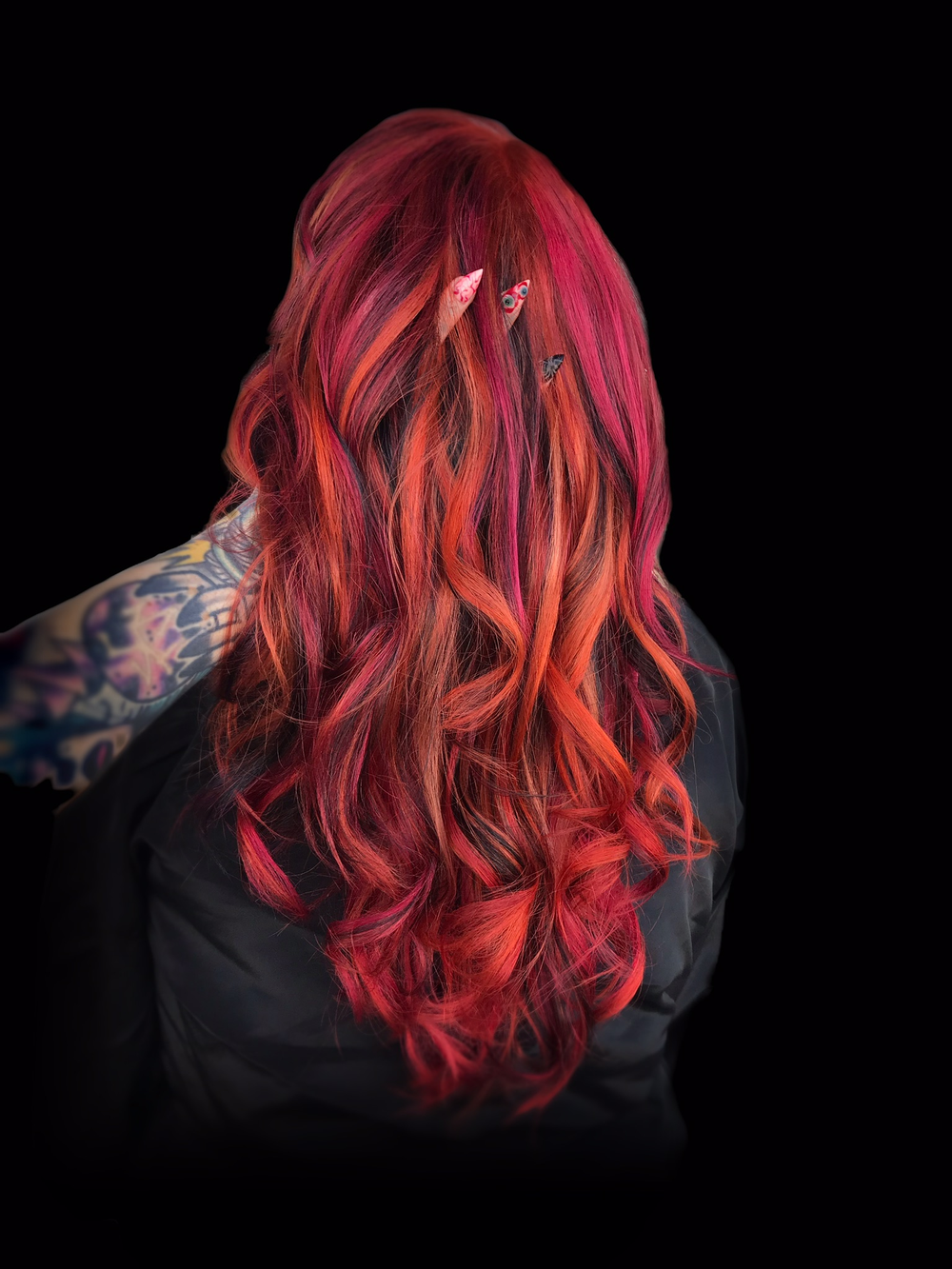 Hair color by Kat Chase.