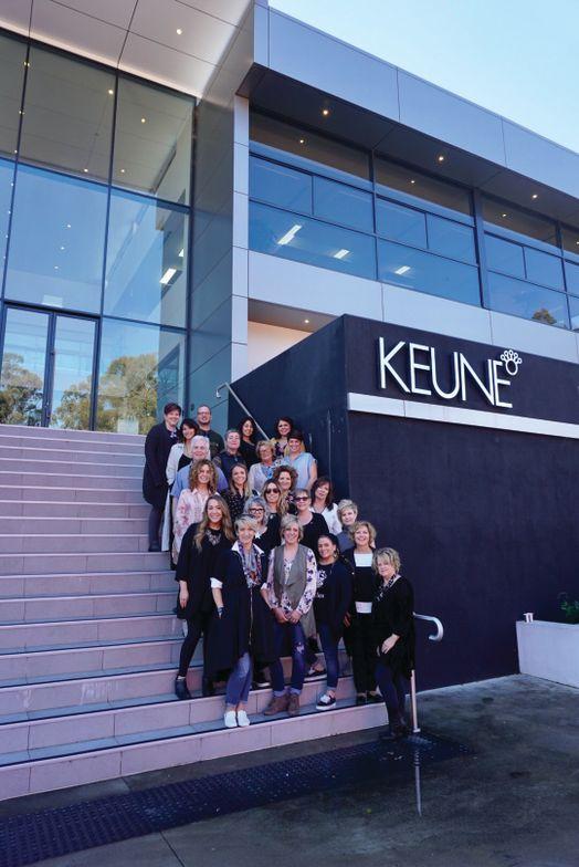 The KLC crew at the Keune Australia headquarters.