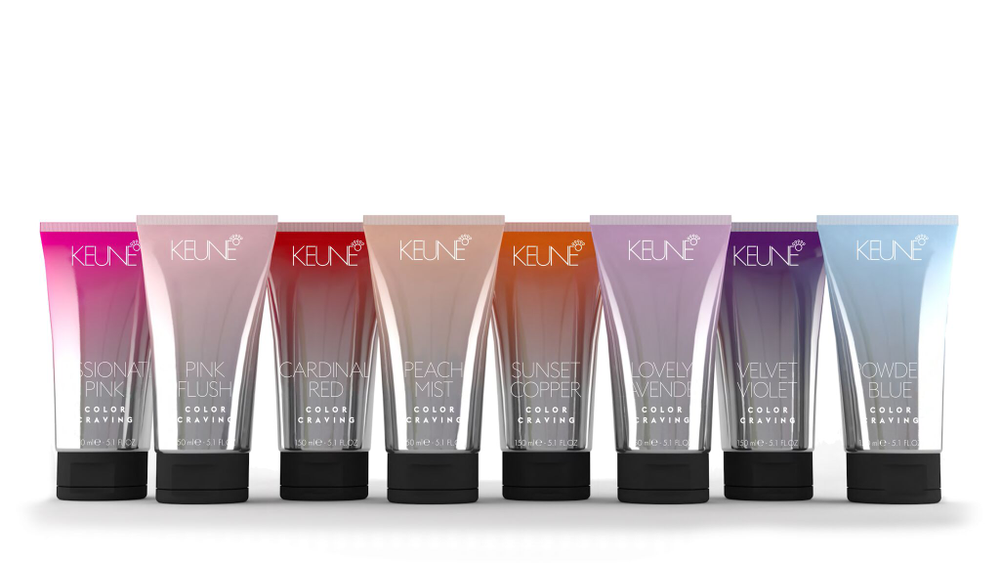 January 2016's Color Craving line of direct-deposit haircolor, designed to fade in 6-8 shampoos. The line can be used as an in-salon service and also as a retail component so clients can maintain, refresh or change her haircolor as a fashion statement.