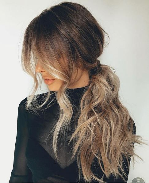 This piece-y textured pony shows that the style can still look effortless without looking messy.