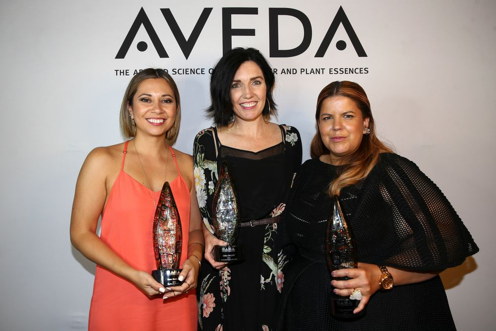 Aveda recognizes<strong> Heggy Gonzalez</strong>, Creative Director, Inspire Greatness Aveda Institutes Denver, Phoenix, Provo and Tucson, who won <strong>Editorial Stylist of the Year;</strong> Diana Skrabanek, Ruiz Salon, Austin, Texas, who won <strong>Styling/Finishing</strong>; and <strong>Aisling Campbell</strong>, Aveda Institute Tucson who won <strong>Student Hairstylist of the Year</strong>.