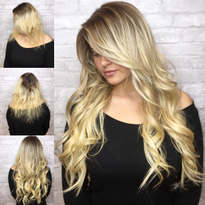 Color and Extensions For A Total Glam Finish