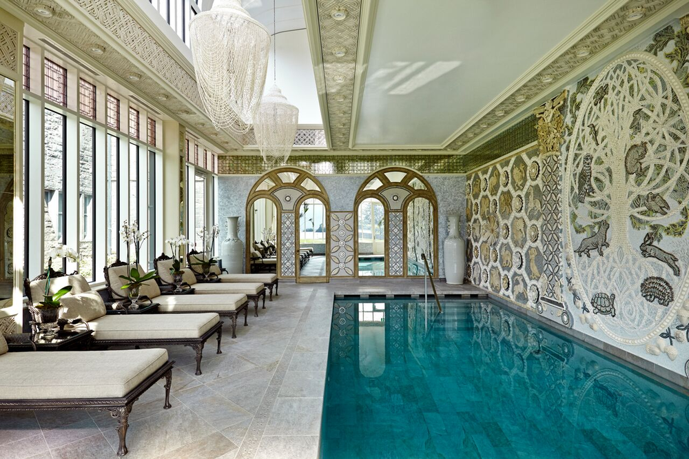 The pool atThe Spa at Ashford Castle.