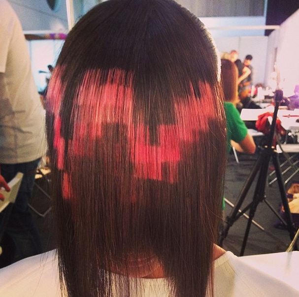 New Haircolor Trend: Pixelated Hair