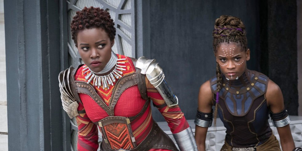 LUPTIA NYONG'O, LETITIA WRIGHT<br />FROM<br />MARVELO STUDIO'S BLACK PANTHER