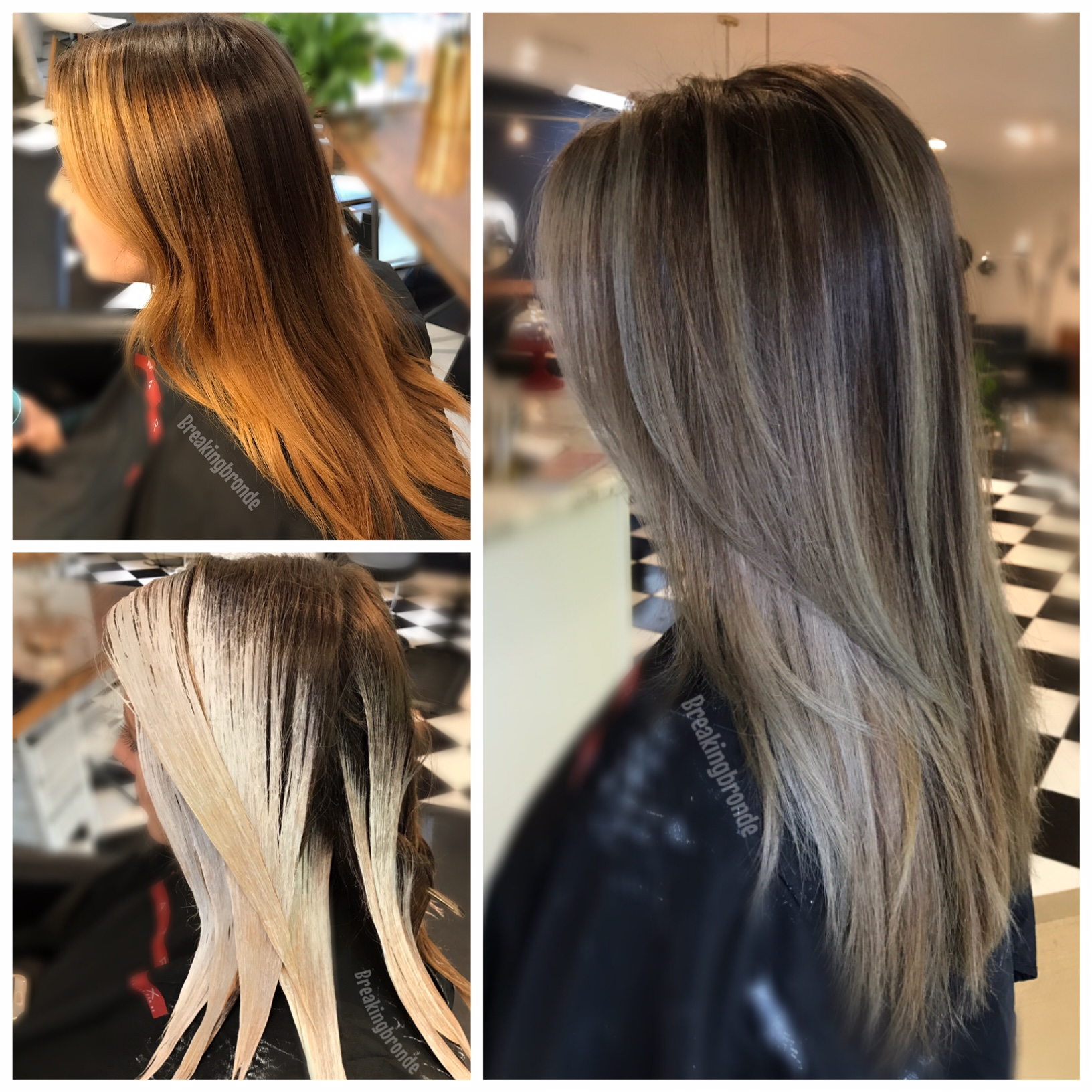 COLOR CORRECTION: Banded and Brassy To Ash Melt