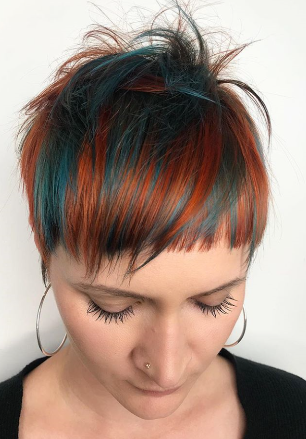 HOW TO: Teal + Copper Pixie Using Color Conditioning Masques