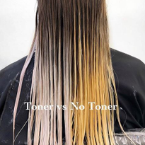 This toner vs no toner image from @lisalovesbalayage was our most-liked photo from the week. It...