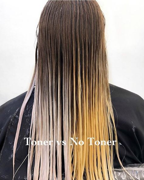 This toner vs no toner image from @lisalovesbalayage was our most-liked photo from the week. It received almost 9,000 likes.