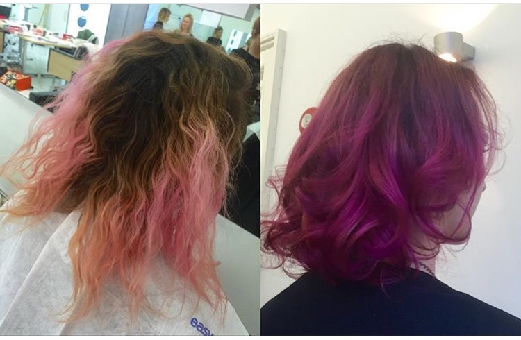 Revitalized Color: Pink to Purple Ombre