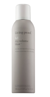 <strong>Living Proof FULL DRY VOLUME BLAST: </strong>Dry Volume Blast is powered by a new technology, ETAS (Expandable Textured Aero Spheres). ETAS are lightweight, invisible particles and when they hit your hair, they increase the space between your hair fibers. The result: your hair feels fuller and more textured.<strong><br /></strong>