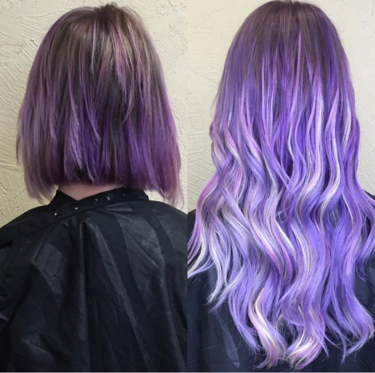 Makeover: Color and Extensions For Lilac Elegance