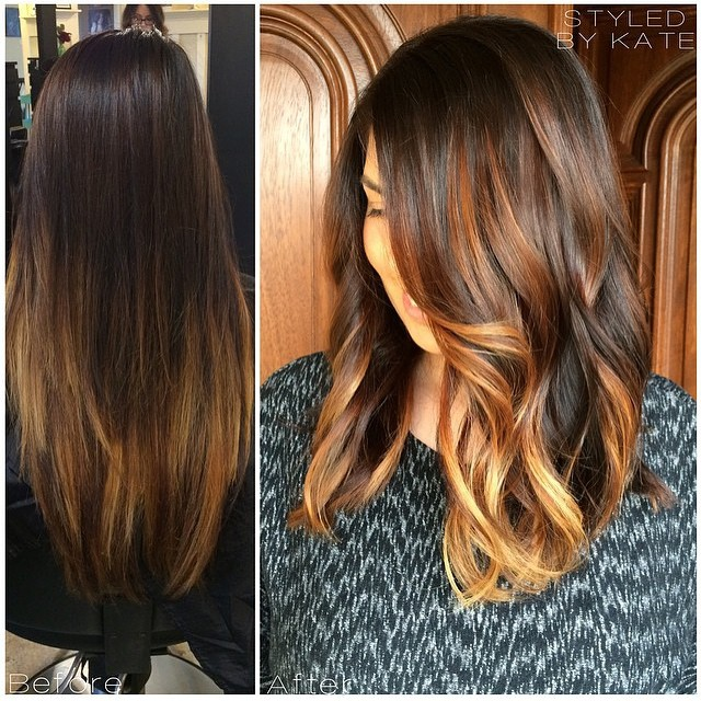 BEFORE & AFTER: Stunning Golden Lob With Ecaille Highlights