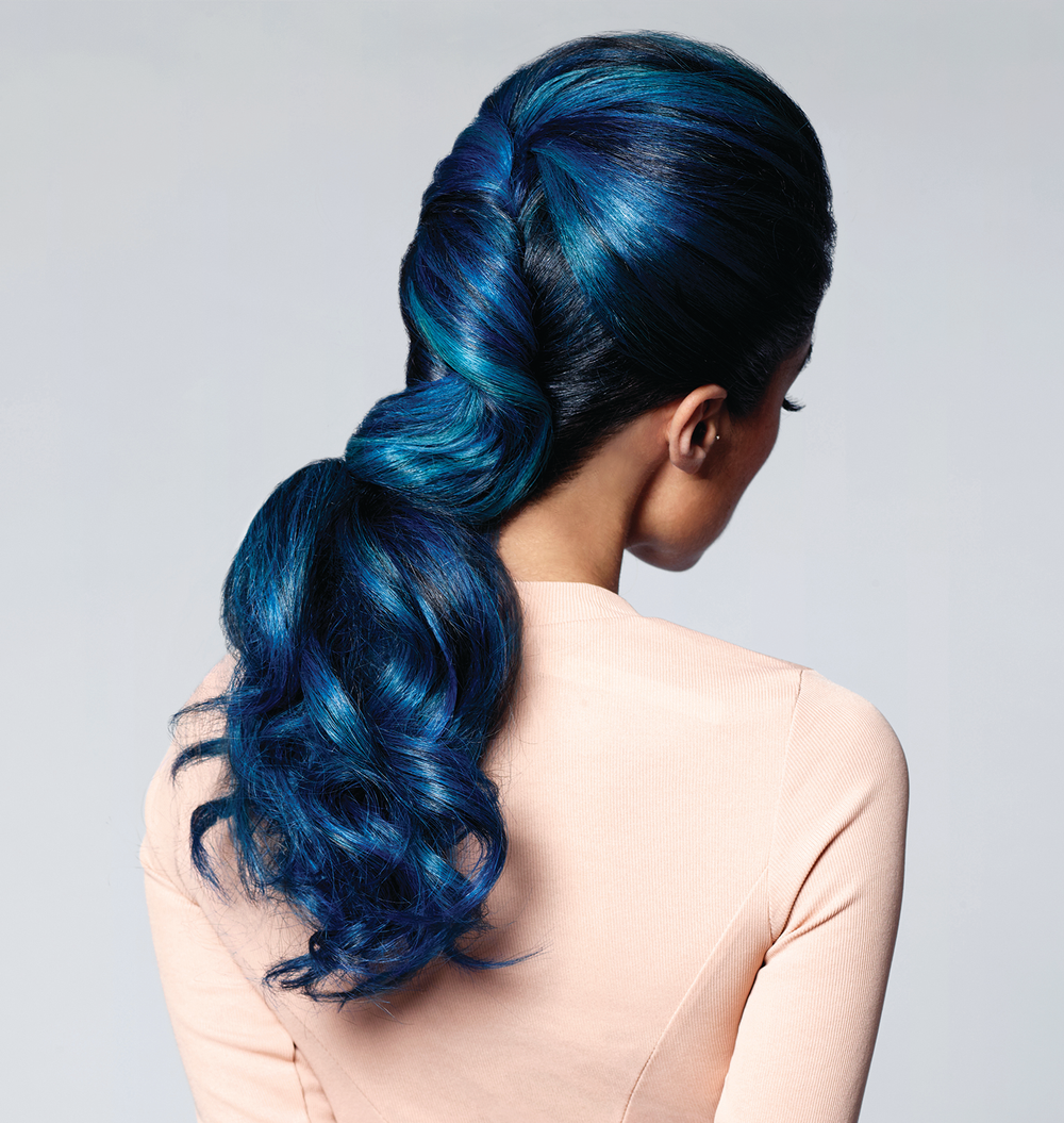 ColorProof's Twisted Low Ponytail