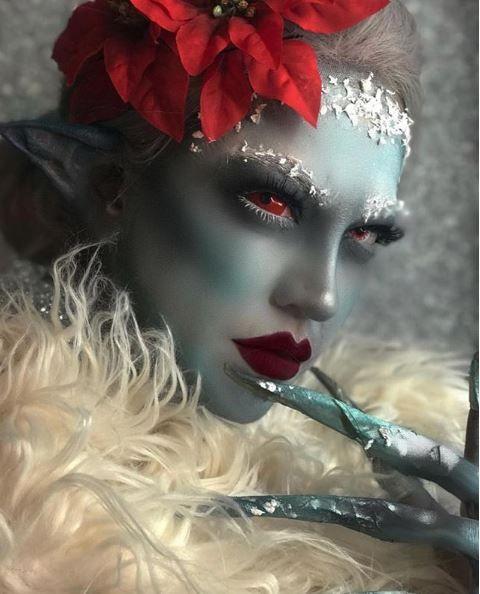 How eerie is this winter solstice elf?!