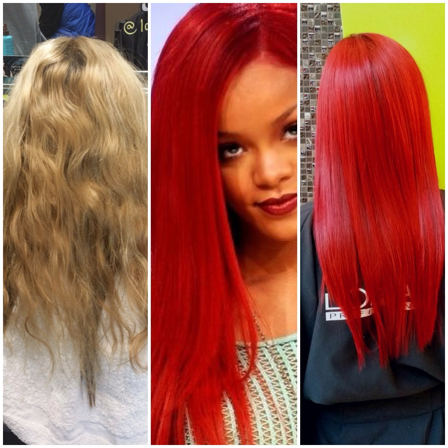 TRANSFORMATION: Rihanna Inspired Red