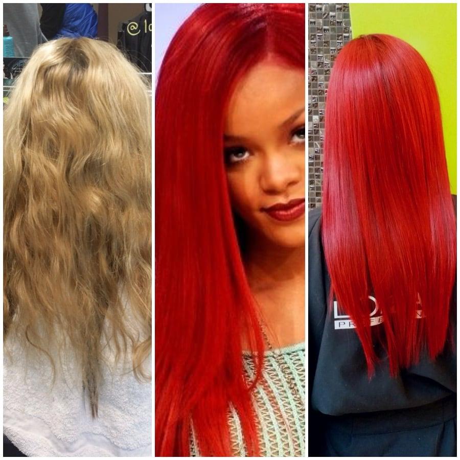 TRANSFORMATION: Rihanna Inspired Red