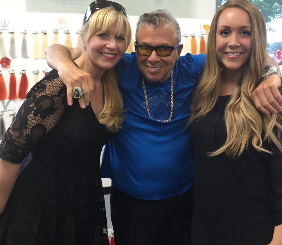 MODERN's Maggie Mulhern and Alison Alhamed with Leland Hirsch as he debuts his new Celeb Luxury brand.