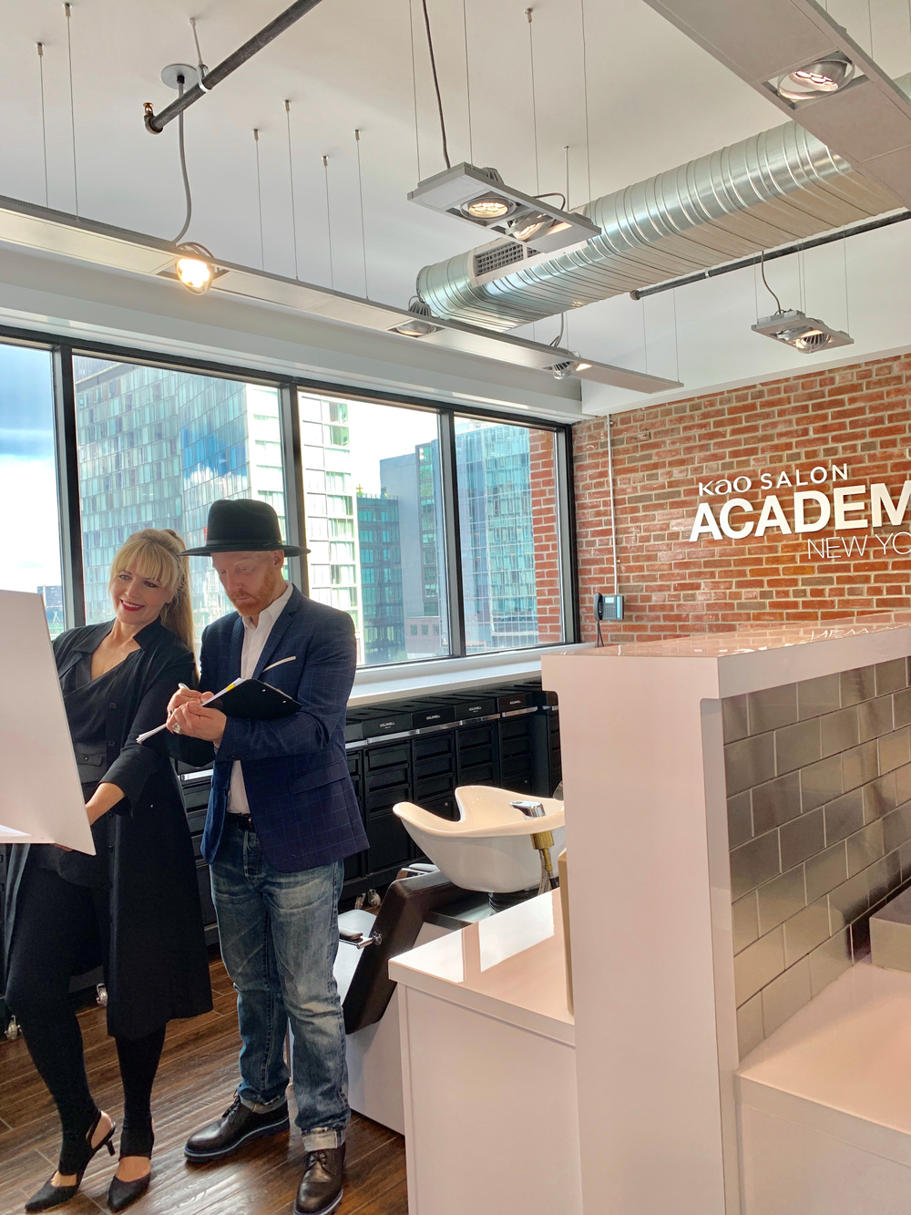 <p>MODERN Beauty and Fashion Director Maggie Mulhern (@modernmaggie1) and celebrity colorist Jason Backe (@jasonbacke) participated in judging Goldwell's Color Zoom 2019 at the Kao Academy in NYC.</p>