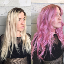 MAKEOVER: Grown Out Blonde To Dimensional Raspberry