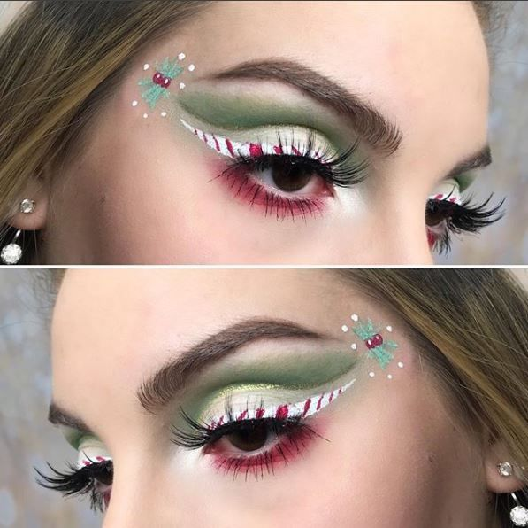 We think the balance between red and green in this look work perfectly.