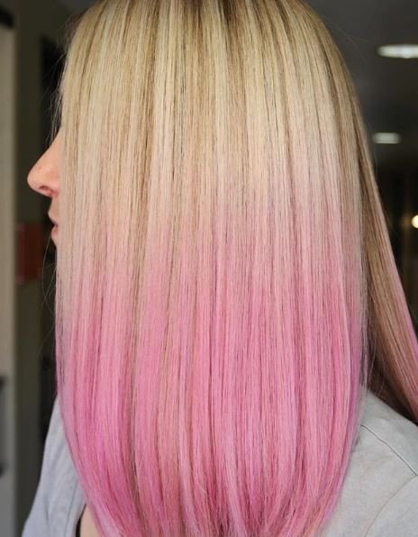 We love this blend of traditional blonde into a fun pop of pink.