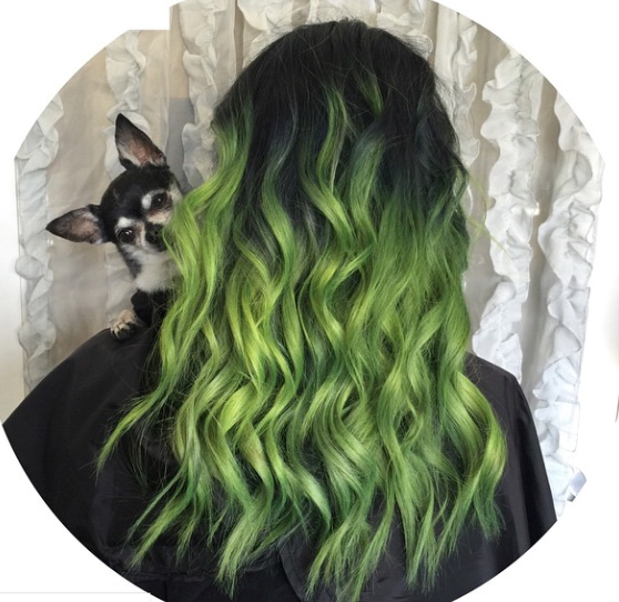 HOW-TO: Electric Green Ombré
