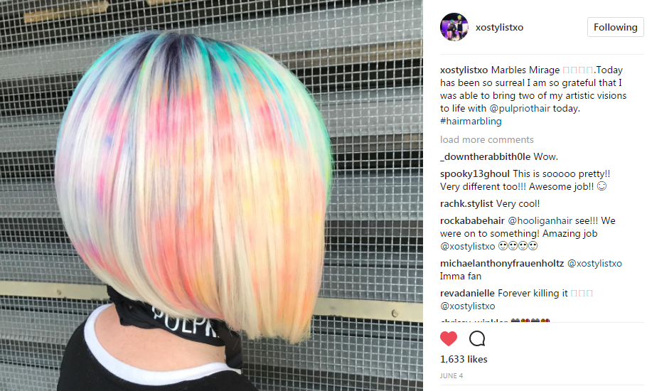 Q+A with xoStylistxo: Ash Fortis Talks Hair Marbling