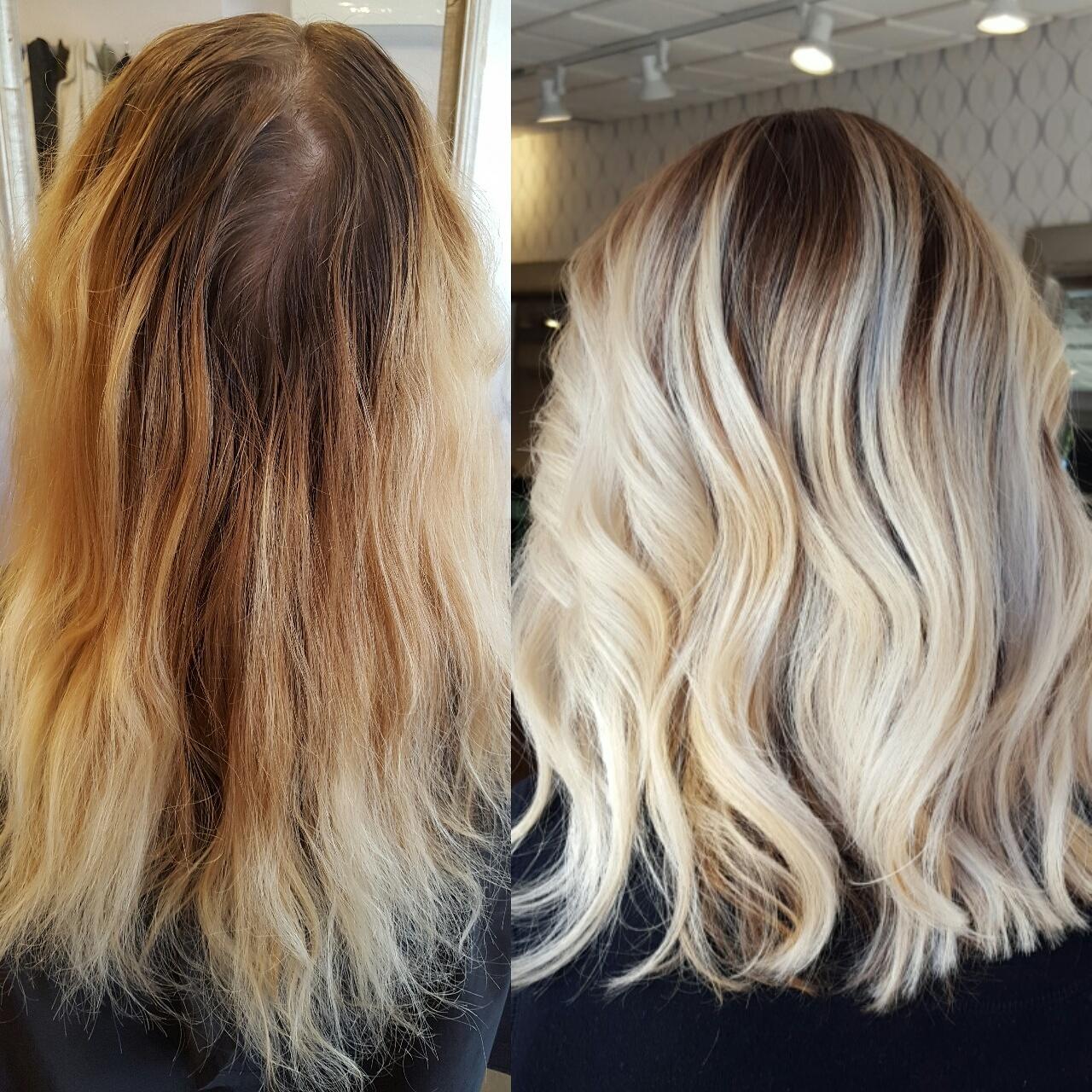 MAKEOVER: Banded and Brassy To Stunning Blonde Melt
