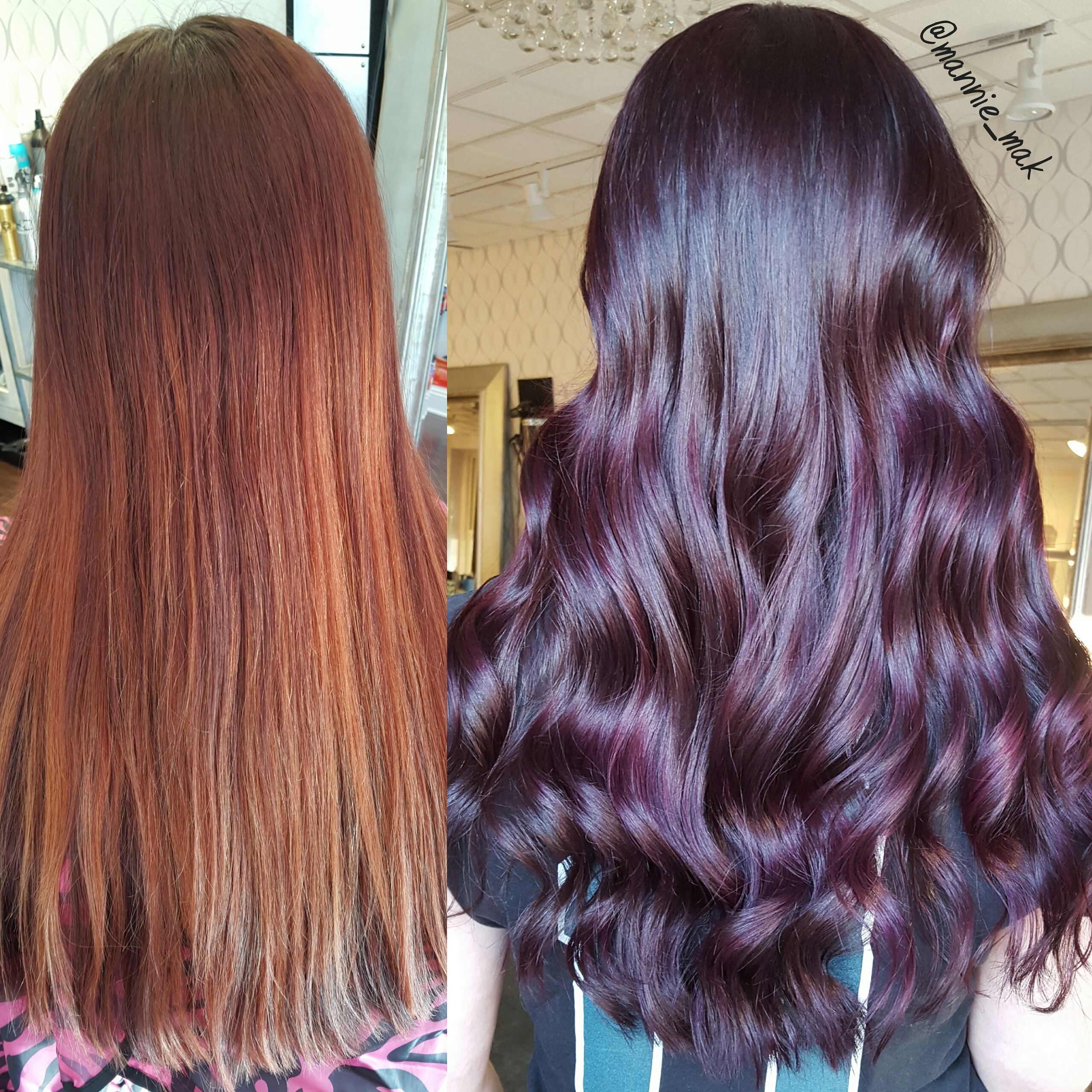 MAKEOVER: Faded Cherry To Vibrant Violet