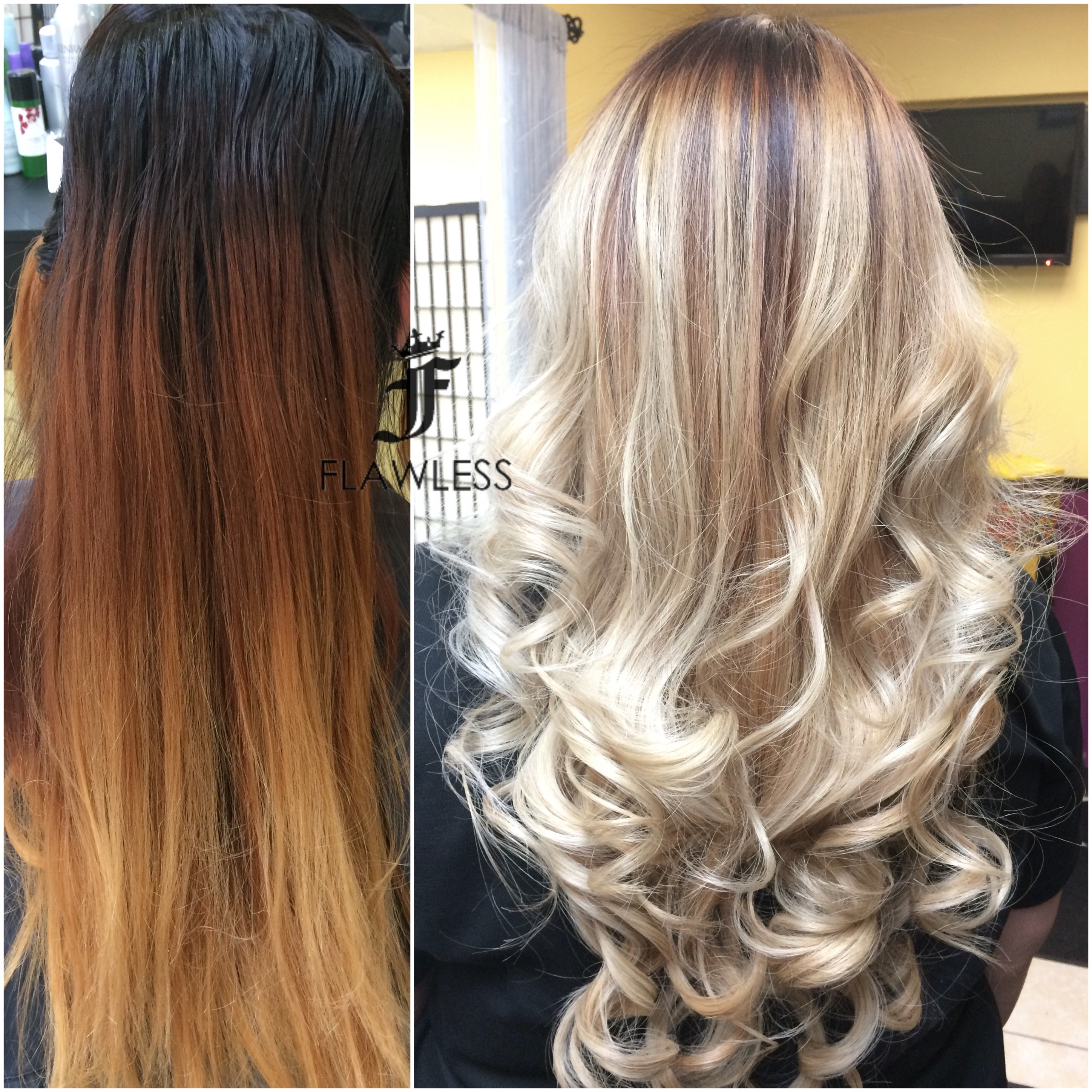 TRANSFORMATION: High Contrast Blonde